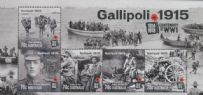 AUS SGMS4355 Centenary of WWI: Gallipoli 1915 miniature sheet